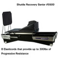 "Shuttle Systems Recovery Device # 5500 - 24"" x 48"", 6 Wheels, Universal Headrest, Plyometric Steel Cross Brace, 24"" Level Body, Shuttle Wobble Board & Strap, Foam Wedge 24"" x 27"" x 12"" Backrest & Kickplace Foot Supports, Each"