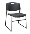 Regency Zeng Anti-Microbial Stack Chair # 51371 - with 400 lb. Capacity, Black