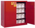 SECURALL PAINT & INK STORAGE CABINETS # P140 - Yellow color, 40 Gal. Self-Latch Standard 2-Door, 44 x 43 x 18