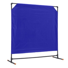 Portable partition screen with a vinyl fabric panel has applications for crime and trauma scenes, disaster management, healthcare triage, decontamination and more.