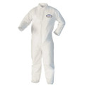 Kimberly Clark KLEENGUARD A10 Light Duty Coveralls # 10468 - with Zipper Front Closure and Elastic Wrists, White, Large, 25/cs
