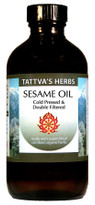 Sesame Oil - 100%  Certified  Organic 16 oz.