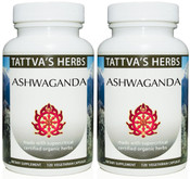 Ashwagandha  Full Spectrum CO2 Extract  500 mg - 240 Vegetarian Capsules -( 2 pack- 120ct/ea)