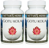 Gotu Kola - Organic  Non GMO Holistic Extract - Enhance Memory & Focus Reduce Stress - Supports Natural Sleep - 240 Vcaps 500 mg. Herbal Supplement 2 Month Supply