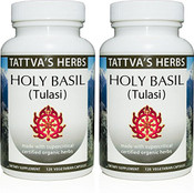 Holy Basil Tulasi  Full Spectrum CO2 Extract  500 mg - 240 Vegetarian Capsules (2 pack - 120 ct/ea)