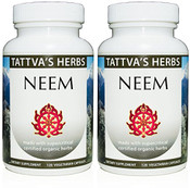 Neem  Full Spectrum CO2 Extract  500 mg - 240 Vegetarian Capsules (2 pack - 120 ct/ea)