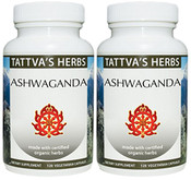 Ashwagandha - Organic, Raw, 240 vcaps, 500 mg (2 pack - 120 ct/ea)