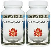 Ashwagandha - Organic, Raw, 240 vcaps, 500 mg (2 pack - 120 ct/ea)