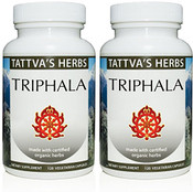 Triphala - Raw, Organic, 240 vcaps, 500 mg (2 pack - 120 ct/ea) (OUT OF STOCK) Pre-orders accepted