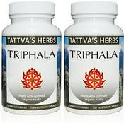 Triphala - Raw, Organic, 240 vcaps, 500 mg (2 pack - 120 ct/ea)