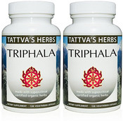 Triphala - Organic Non GMO Full Spectrum Holistic Extract - Relieves Constipation - Aids Weight Loss - Reproductive Health -240 Vcaps (2 Pack -120 ct.) 2 Month Supply (OUT OF STOCK)