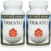Trikatu Capsules - Organic Non GMO Holistic Extract Supports Healthy Digestion, Enzymes, Gas & Bloating Relief - 500 mg. Herbal Supplement 240 Vcaps. 2 Month Supply