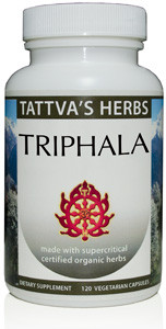 Triphala - Organic Non GMO Full Spectrum Holistic Extract - Relieves  Constipation - Aids Weight Loss - Reproductive Health -120 Vcaps (2 Pack  -120