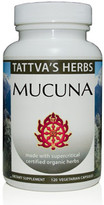 Organic Mucuna 15% L-Dopa, 15% Phytosterols  500 mg.120 Vcaps ( - Full Spectrum Extract