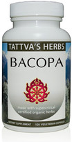 Bacopa Monnieri Holistic Extract - Natural Serotonin, Mood Stabilizer, Panic Attack, Nootropic Booster - 120 Vcaps 500 mg. Organic Non-GMO Herbal Supplement -  1 Month Supply  (OUT OF STOCK)