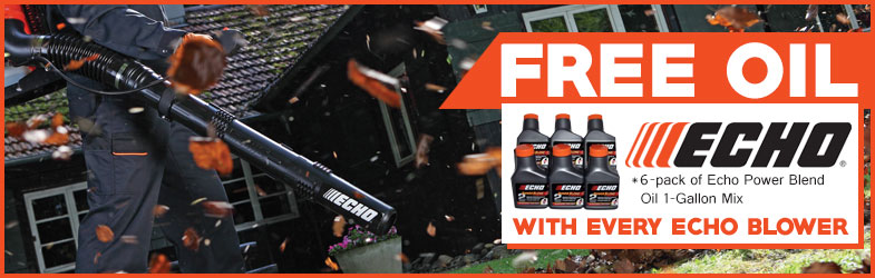 Free oil with every Echo leaf blower