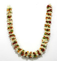 Cloth haaram with Red White Yellow Green flowers 40 inch