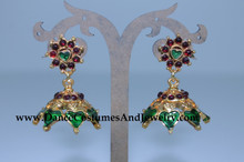 Enamled temnple jewelry jumka