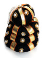 Andal kondai synthetic black hair bun with golden ribbon