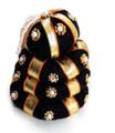 Andal kondai synthetic black hair bun with golden ribbon