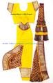 Bharathanatyam dance costume Brocade silk YelMrn34