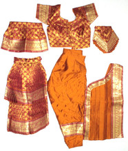 Bharatanatyam dance costume  sc 1 st  Dance Costumes And Jewelry & Readymade Bharatanatyam costume brocade silk MusMrn26