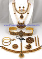 temple jewelry set for dance