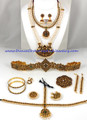 indian dance jewelry set