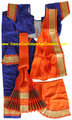 Bharatanatyam dance dress readymade art silk BluOrg40