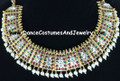 Poothali dance Jewelry Choker with white and maroon stones