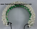 White round cellulose flower for Indian classical dance