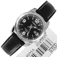 Casio Standard Black Leather Women Quartz Watch LTP-1314L-8AV LTP1314L