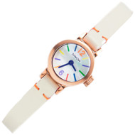 Milton Stelle Quartz Rose Gold Designer Case Ladies Watch MS-091R
