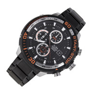 Alba SignA Quartz Chrono Mens Date Black Orange Watch AM3107X1 AM3107X