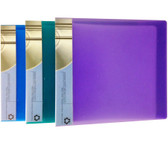 12 CD/DVD Capacity Wallet - Assorted Colours Purple/Green/Blue - CDH12