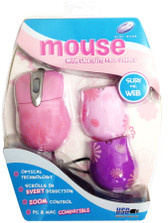 Girl Gear Pink Daisy USB Optical Mouse With Changing Faceplates - 81397