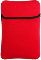 "9"" Reversible Netbook Sleeve Red/Black - 04491-PG"