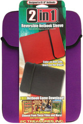 "10"" Reversible Netbook Sleeve - Purple/Black - 07012-PG"