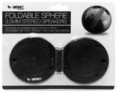 Vibe Foldable Sphere 3.5mm Portable Stereo Speakers - Black - VS-570-SK-BLK