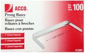 Acco - 100PK 1'' Prong Bases Paper Fastner - 5050512991