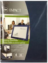 GBC - 4PK Impact Landscape Portfolio 25-Sheet Capacity - Blue - 3381622307