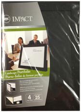 GBC - 4PK Impact Landscape Portfolio 25-Sheet Capacity - Black - 3381622280