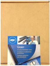 GBC - Grain 200-Pack Economy Presentation Covers - Cream - 3381600150