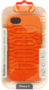 Cygnett Bulldozer Extra-Protective Silicon iPhone 5 Case - Orange - CY0872CPBUL