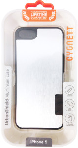 Cygnett UrbanShield Silver Brushed Aluminium iPhone 5 Case - Silver - CY0859CPURB