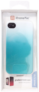 XtremeMac MicroShield Fade Gradient Finish Case For iPhone 4/4s - Turquoise/White - IPP-MF4SW-23