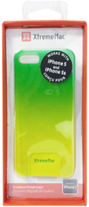 XtremeMac MicroShield Fade Gradient Finish Case For iPhone 5/5s - Lime Green/Yellow - IPP-MFN-53