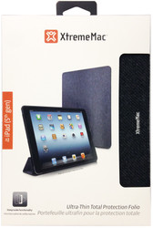 XtremeMac MicroFolio Ultra-Thin Total Protection Folio For iPad Air - Gunmetal Twill - IPD-MFMT5-13