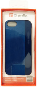 XtremeMac MicroShield Slide Full Coverage Case For iPhone 5/5s - Monaco Blue/Metallic - IPP-MSS5-23