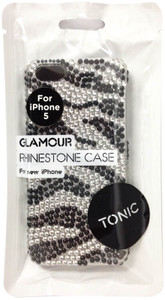 Tonic Pattererned Glamour Rhinestone Case For iPhone 5/5s - Zebra - TN0945CPGLA